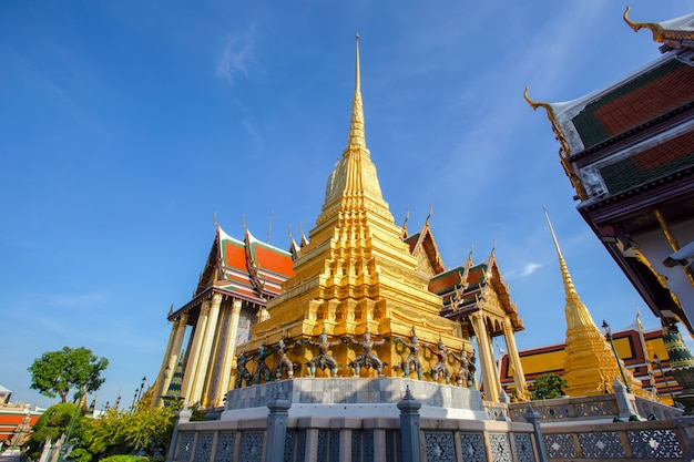 Wat phra kaew ancient temple in bangkok, thailand