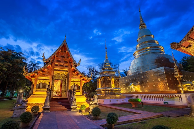 Wat phra singh is a buddhist temple is a major tourist attraction in chiang mai,thailand.