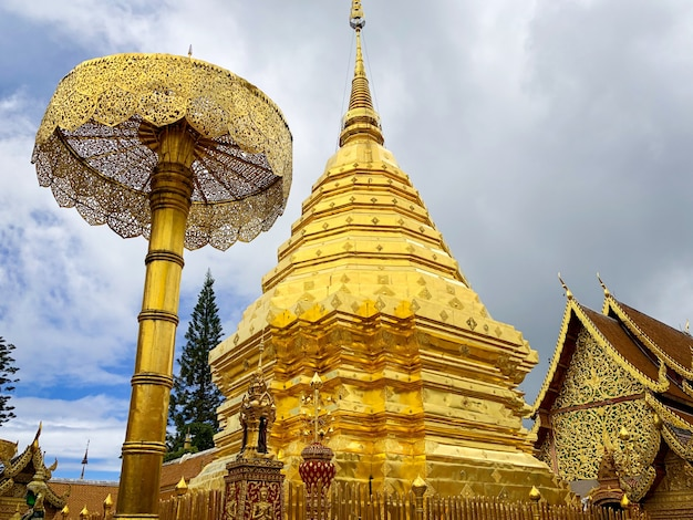 Wat phra that doi suthep is a buddhist temple and tourist attraction in chiang mai, thailand
