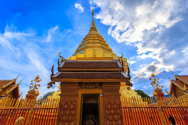 Wat phra that doi suthep is tourist attraction of chiang mai, thailand
