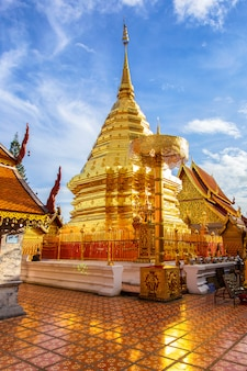 Wat phra that doi suthep, the most famous temple in chiang mai province, thailand