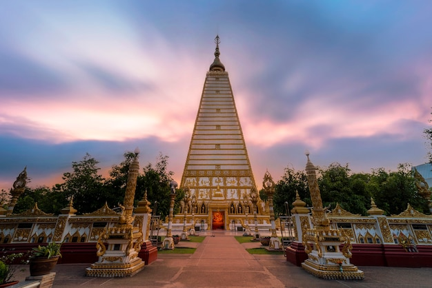 Wat phrathat nong bua at twilight in ubon ratchathani province