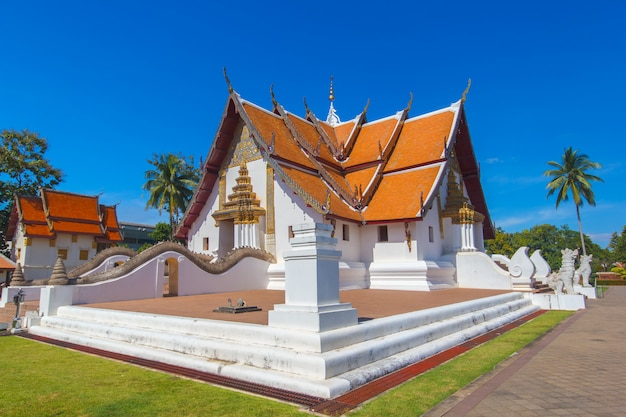 Wat phumin is a unique thai traditional temple with lanna style (northen of thailand), nan province, thailand