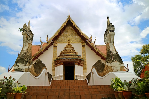 Wat phumin temple with the naga staircase