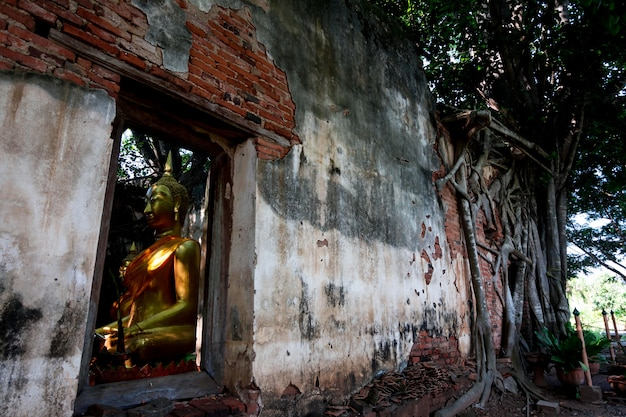 Wat sangkratai, a part of monastery is covered sacred