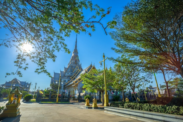 Wat sothonwararam is a buddhist temple in the historic centre