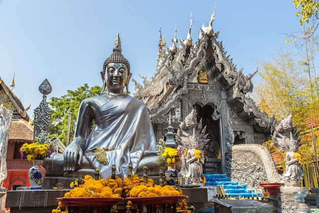 Wat sri suphan known as silver temple  in chiang mai in thailand