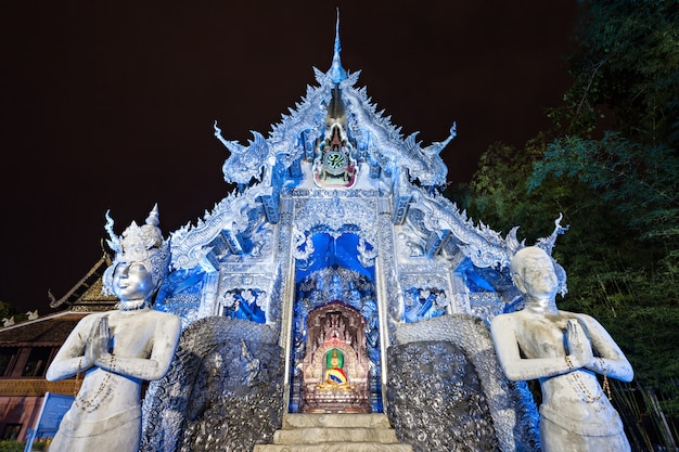 Wat sri suphan temple in chiang mai in thailand