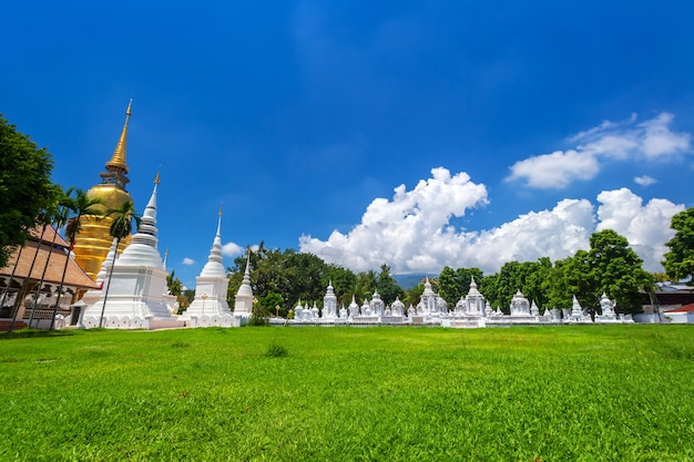 Wat suan dok is a buddhist temple is a major tourist attraction in chiang mai,thailand.