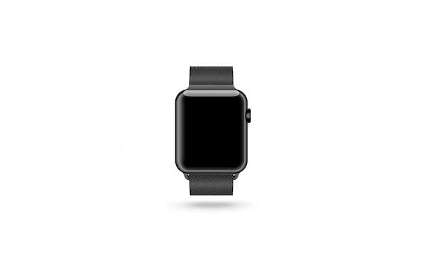 Смотреть пустой экран изолированный, серебро, золото и черный, 3d-рендеринг.