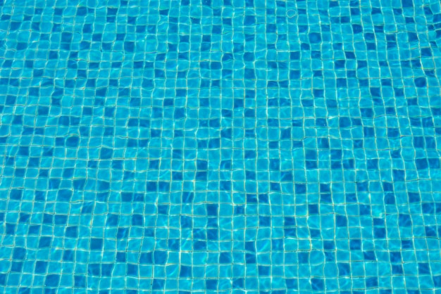 Water in a blue swimming pool, background