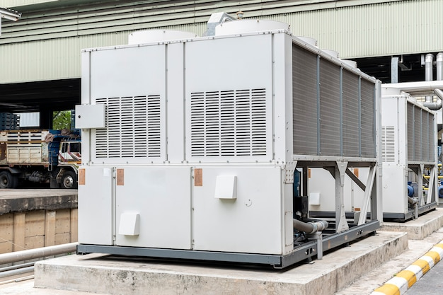 Water chillers for production processes in industry plant