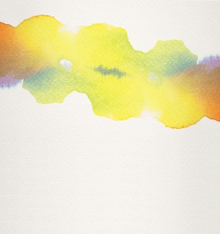 Water color abstract background painting with copy space paper texture.