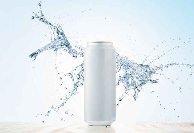 Water or drink in a can