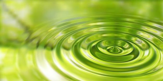 물 표면 3d 그림에 워터 드롭 스플래시 근접