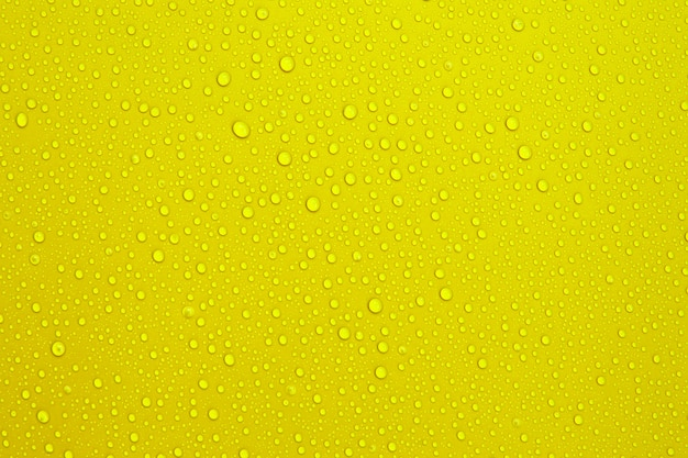 Water droplets on the orange color background