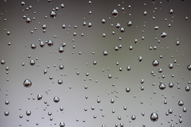 Water drops on brown background
