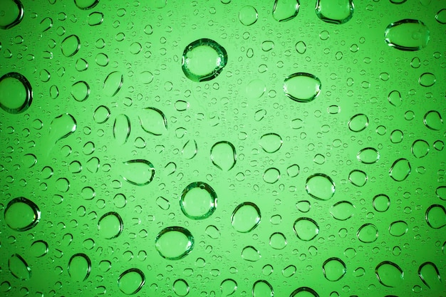 Water drops on glass background.