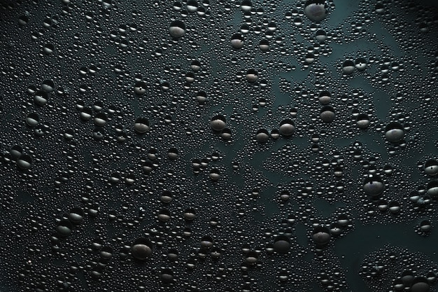 Water drops on gray surface. bubbled texture effect.