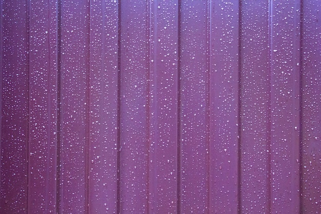Water drops on metal wall background