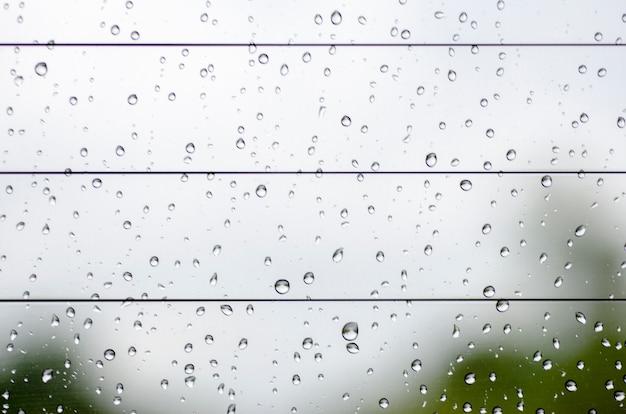 Water drops on the rear window.