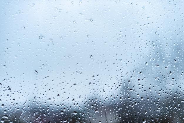 Water drops on windows glass
