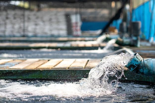 ウォーターポンプパイプからの水流処理システム