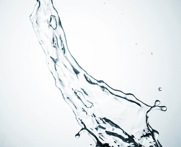 Water flowing on light background