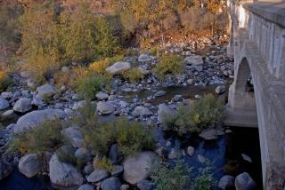 Water flows through