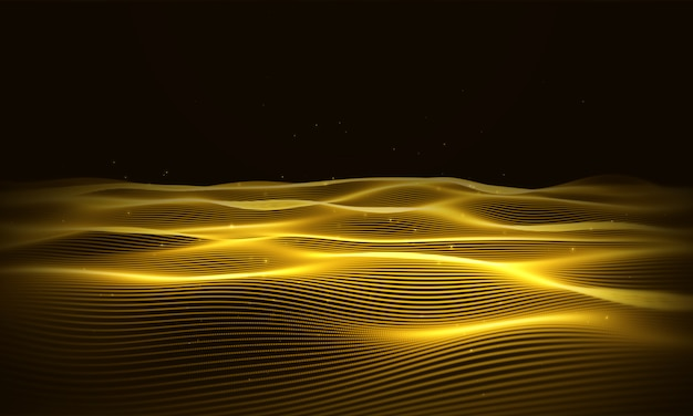 Water gold background