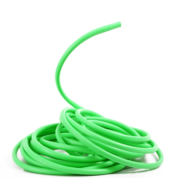 Water hose on white