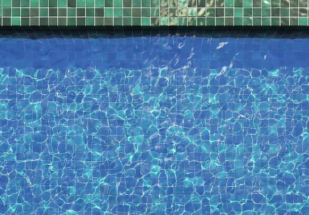 Вода в бассейне с отражениями солнца, 3d иллюстрация Premium Фотографии