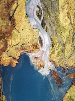 Water and land from above
