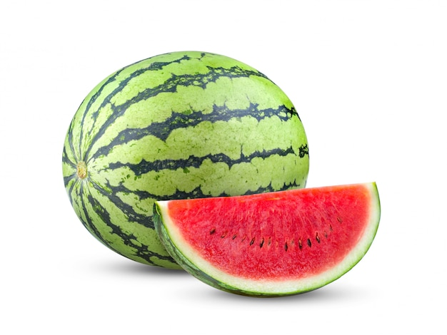 Water melon isolated on white. full depth of field