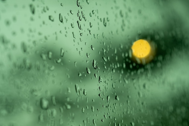 Water on mirror, rainy day, abstract background