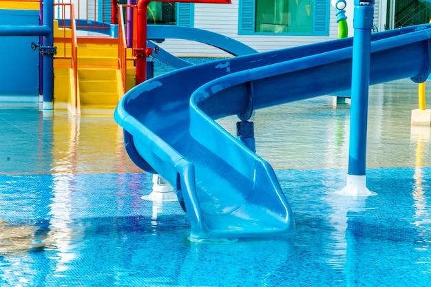 Water park in luxury  resort and hotel, water slide