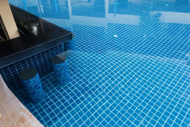 Water pool. summer.