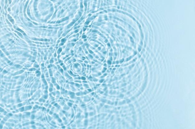水の波紋テクスチャ背景、青いデザイン