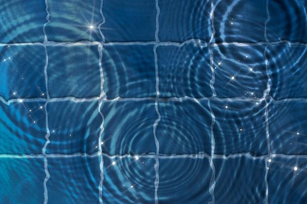 물 리플 질감 배경, 파란색 타일