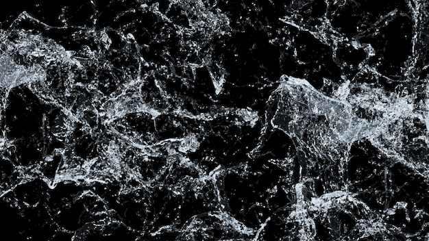 Water splash macro. 3d .