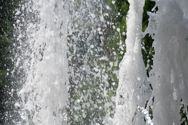 Water splashing in the fountain