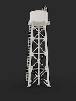 워터 타워 3d 일러스트 수자원 저수지