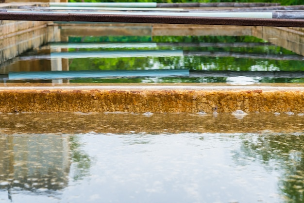 Water treatment process of the waterworks in thailand.