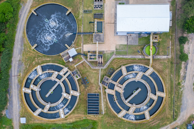 Water treatment processing aerial