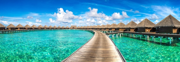 Water villas (bungalows) in the maldives