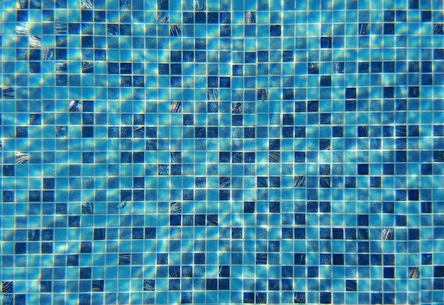 Water wave under swimming pool with light reflecting. texture background.
