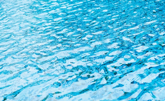 Water wave in swimming pool
