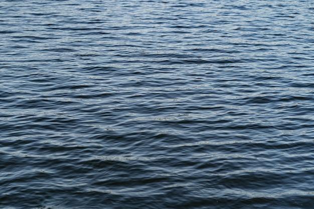 自然の背景の水の波