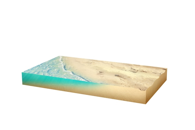 Water waves on the sandy beach. environment concept