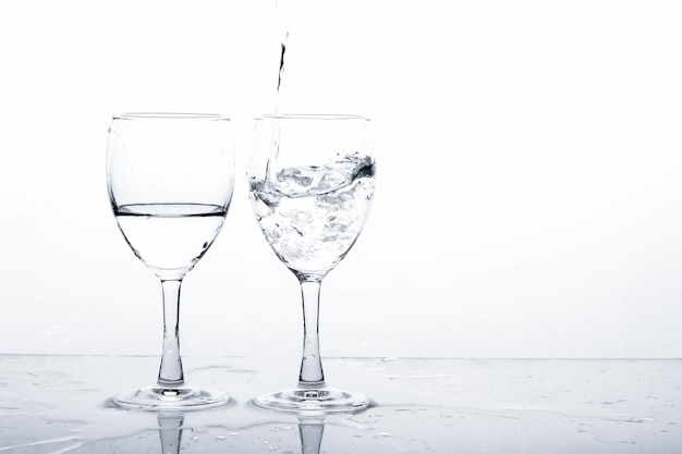 Water in wine glass